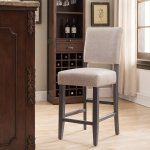 Leick Home Upholstered Back Counter Height Bar Stool Set Of 2 Walmart Com Walmart Com