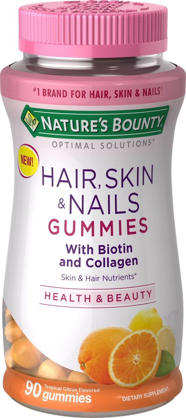Nature's Bounty Hair Skin and Nails With Collagen and Biotin, Gummies, 90 Ct