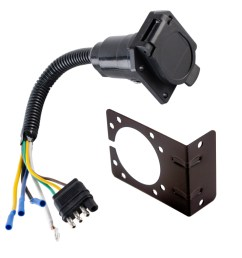 4 wire flat to 7 way converter adapter rv trailer light wire harness and bracket walmart com [ 1500 x 1500 Pixel ]