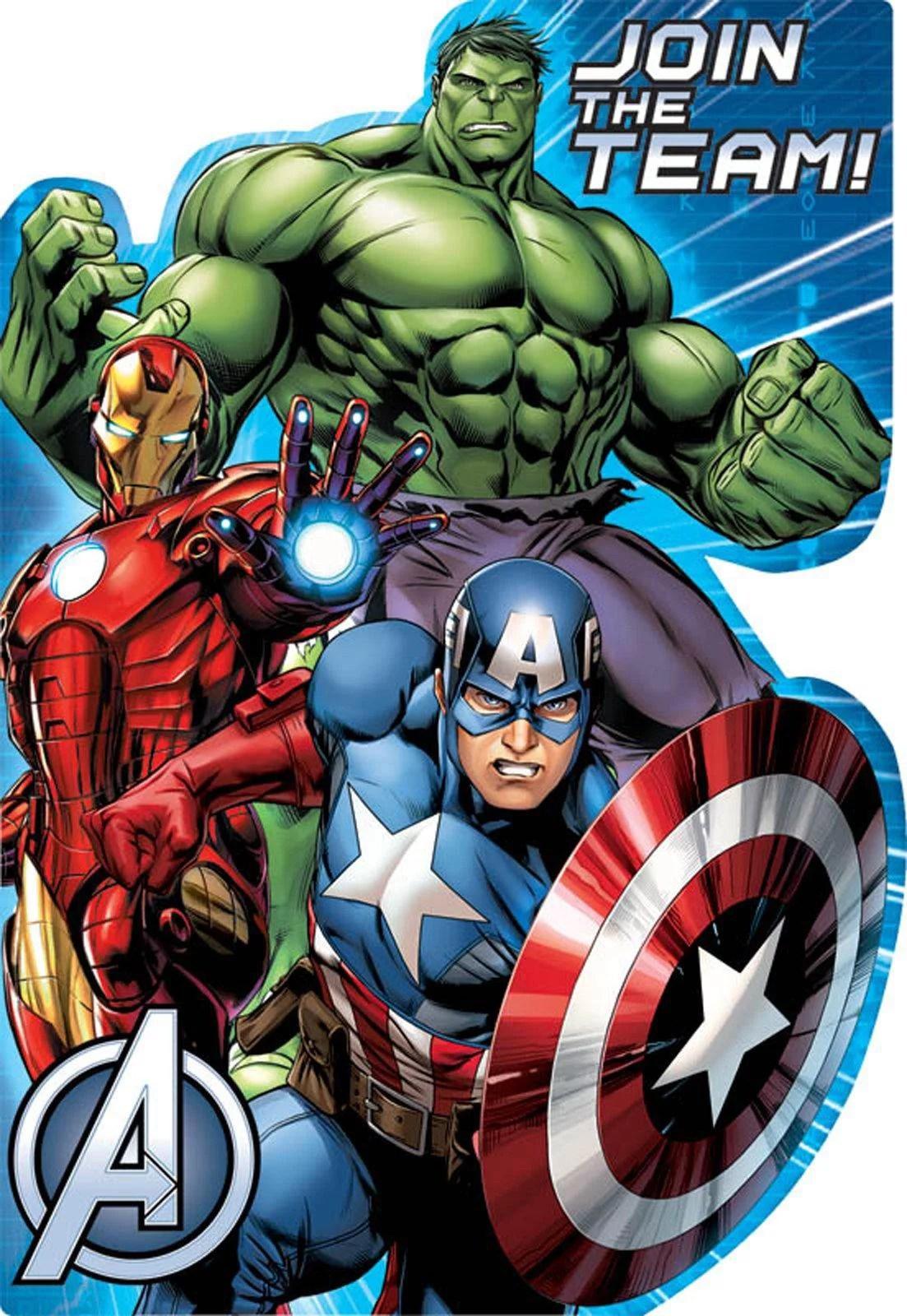 avengers assemble invitations 8 walmart com
