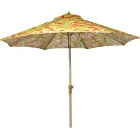 Aluminum Market Umbrella Tropical Print Red and Lime, 9 ...