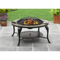 "Better Homes and Gardens 35"" Slate Fire Pit - Walmart.com"