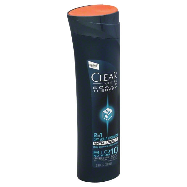 clear scalp and hair men dry