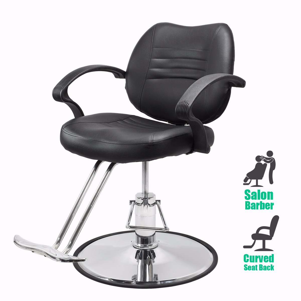 beauty salon chair dining table glass top 6 chairs bestsalon barber hydraulic styling black walmart com
