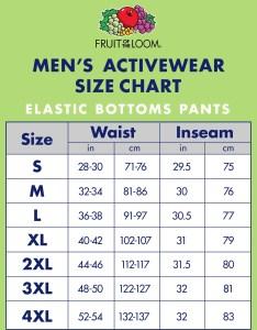 Fruit of the loom men   dual defense eversoft elastic bottom sweatpants walmart also rh