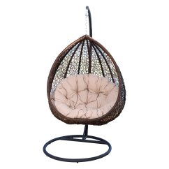 Outdoor Wicker Swing Chair Humanscale Liberty Abbyson Carmen With Stand And Cushion Walmart Com