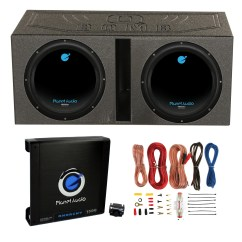 Dual Voice Coil Subwoofer Box Wye Delta Connection Wiring Diagram 2 Planet Audio 12 1800w Subwoofers Vented Lined Enclosure Amp Wire Walmart Com