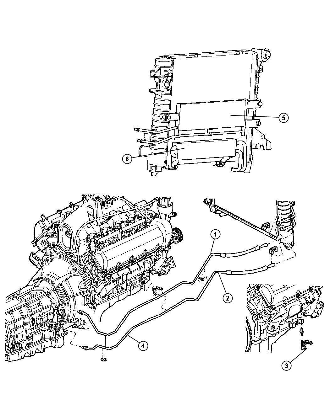 Mopar Af Transmission Cooler Pressure Line Dodge