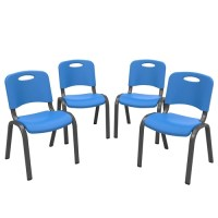 Lifetime Kids Stacking Chair, Dragonfly Blue - Pack of 4 ...