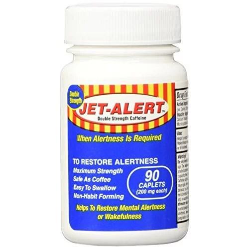 Jet-Alert Energy Stimulant Caffeine Pills 200mg 90 Count ...