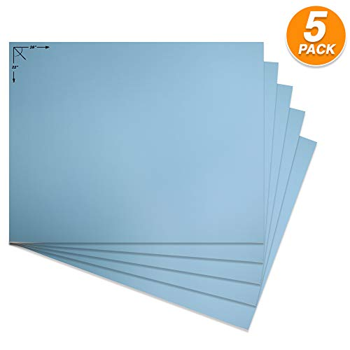 emraw poster board lightweight craft backing boards for presentations office sign blank painting board smooth surface poster sheets for school pack of