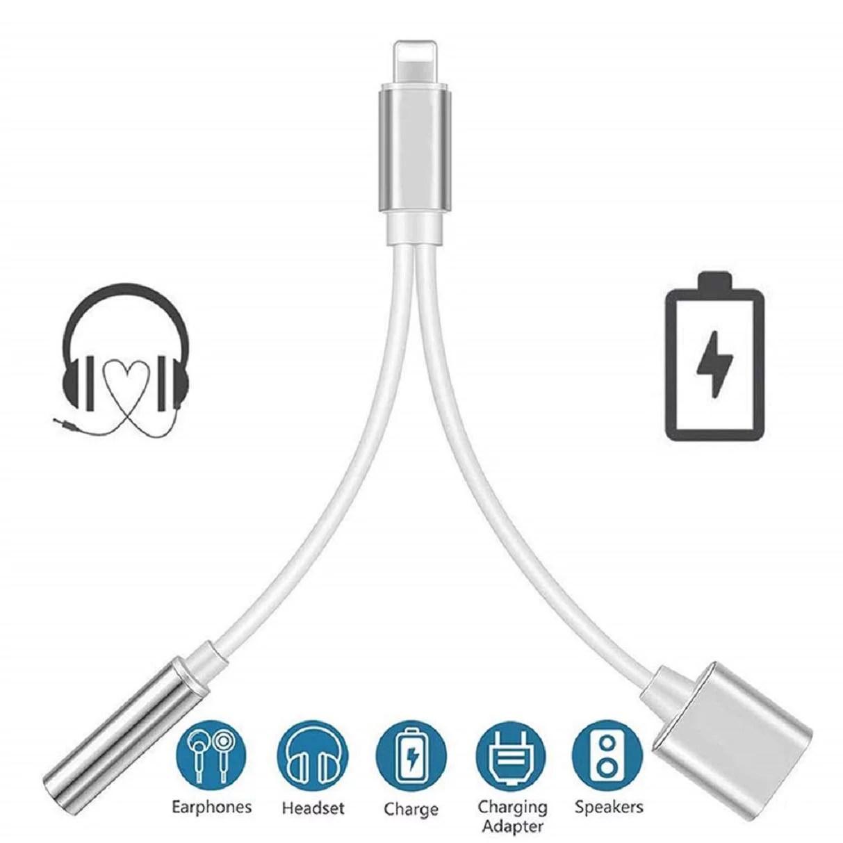 Iphone Headphones Splitter Adapter 3 5mm Aux Jack Adaptor
