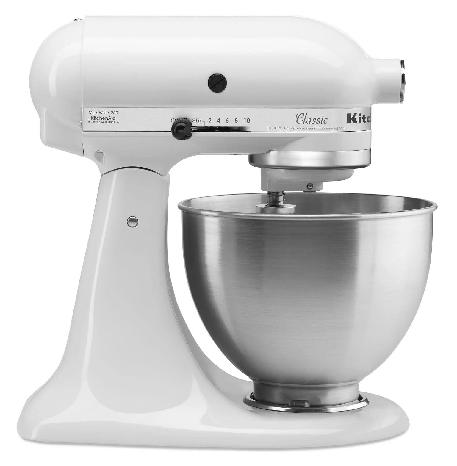 kitchenaid classic series 4 5 quart tilt head stand mixer white k45sswh walmart com
