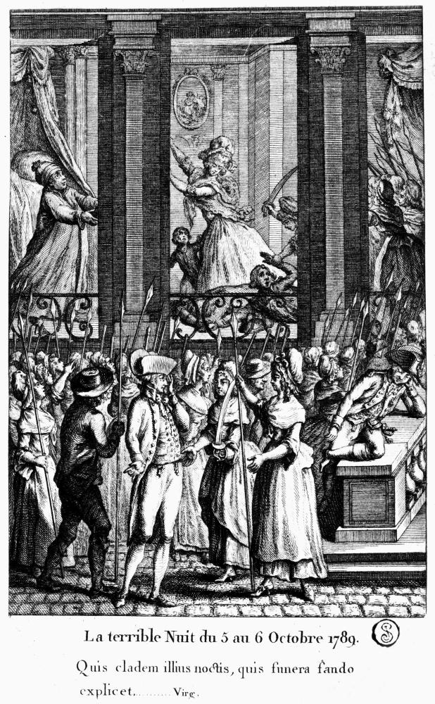 5 Et 6 Octobre 1789 : octobre, French, Revolution, Terrible, Night, October, Parisian, Women, Marching, Versailles, Engraving, Walmart.com