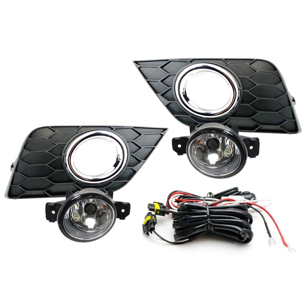 medium resolution of ijdmtoy complete set clear lens fog lights foglamp kit for 2016 up nissan sentra facelift with halogen bulbs wiring on off switch and garnish bezel