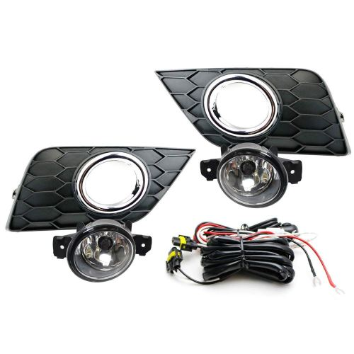 small resolution of ijdmtoy complete set clear lens fog lights foglamp kit for 2016 up nissan sentra facelift with halogen bulbs wiring on off switch and garnish bezel