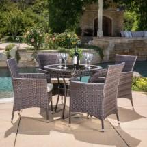 lamar 5 piece wicker patio dining