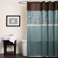 Mainstays 13pc Fabric Shower Curtain and Decorative Hooks ...