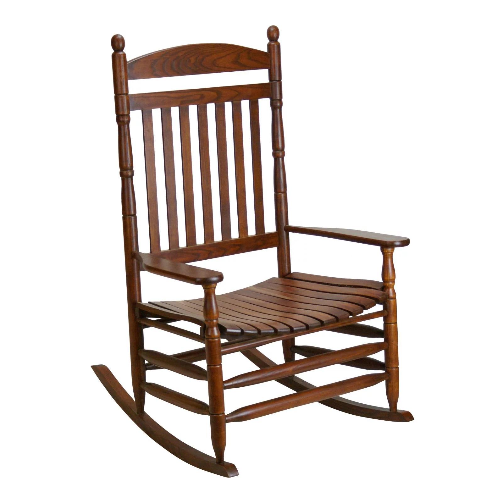 hinkle cumberland 1250 slat back wood patio rocking chair