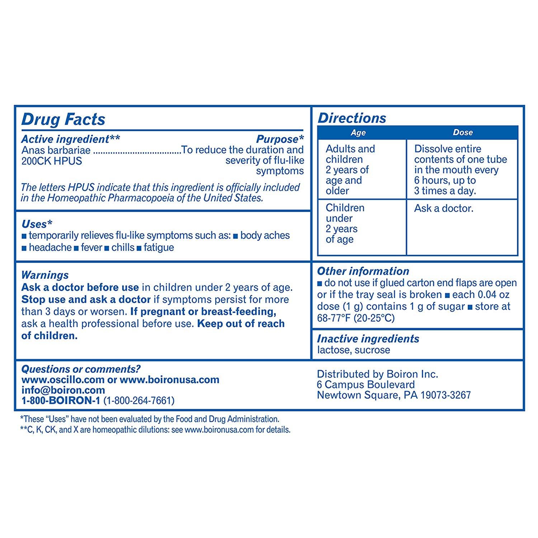 Oscillococcinum 6 Dose Flu-like Symptom Relief - Walmart.com ...