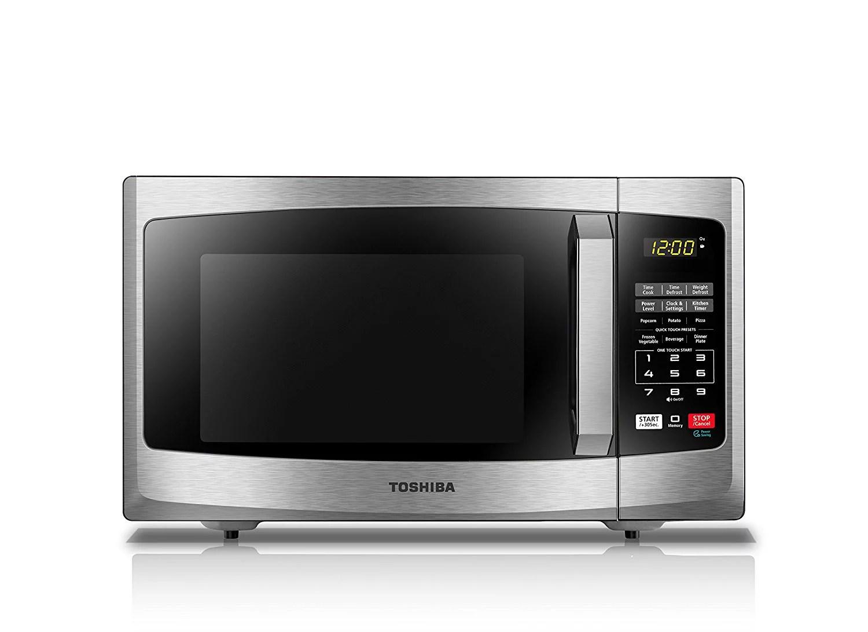 toshiba ml2 em25paess 0 9 cu ft microwave stainless steel