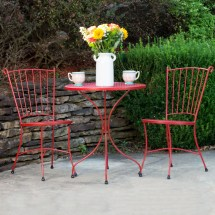 Arlington House Red Wrought Iron 24 Outdoor Bistro
