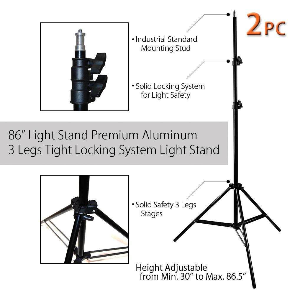 medium resolution of limostudio 600 watt photography video portrait umbrella continuous lighting kit with day light cfl bulbs 33 photo umbrellas heavy duty light stands