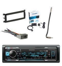 kenwood in dash stereo receiver bluetooth with sirius radio tuner metra dash kit for chry dodge jeep 98 up metra chrysler 2002 antenna adapter cable  [ 1500 x 1500 Pixel ]