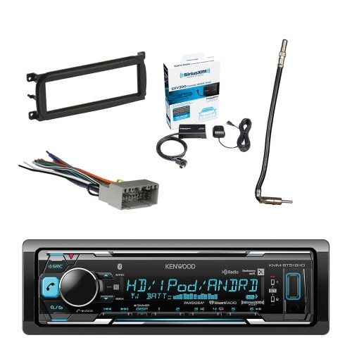 small resolution of kenwood in dash stereo receiver bluetooth with sirius radio tuner metra dash kit for chry dodge jeep 98 up metra chrysler 2002 antenna adapter cable