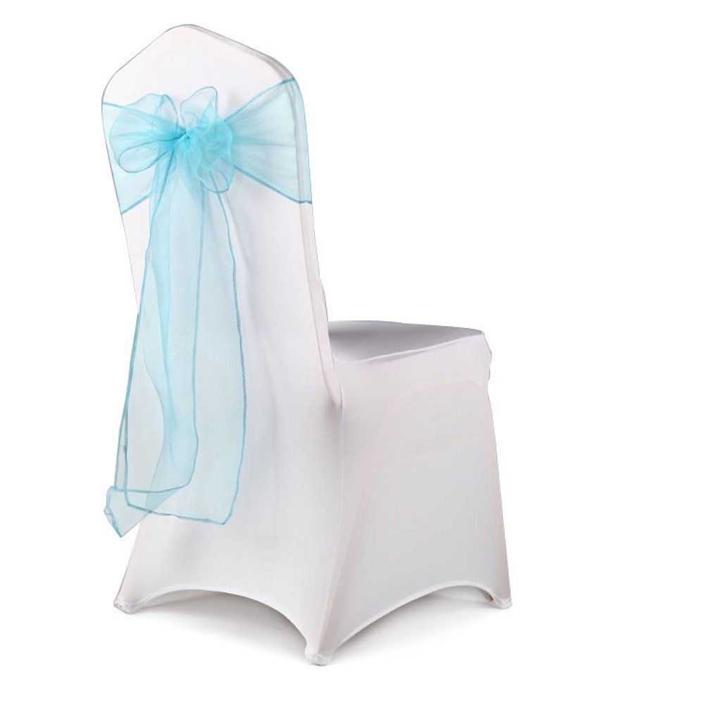 chair back covers wedding graco swing and vibrating interfave 100pcs cover sash organza party feast departments