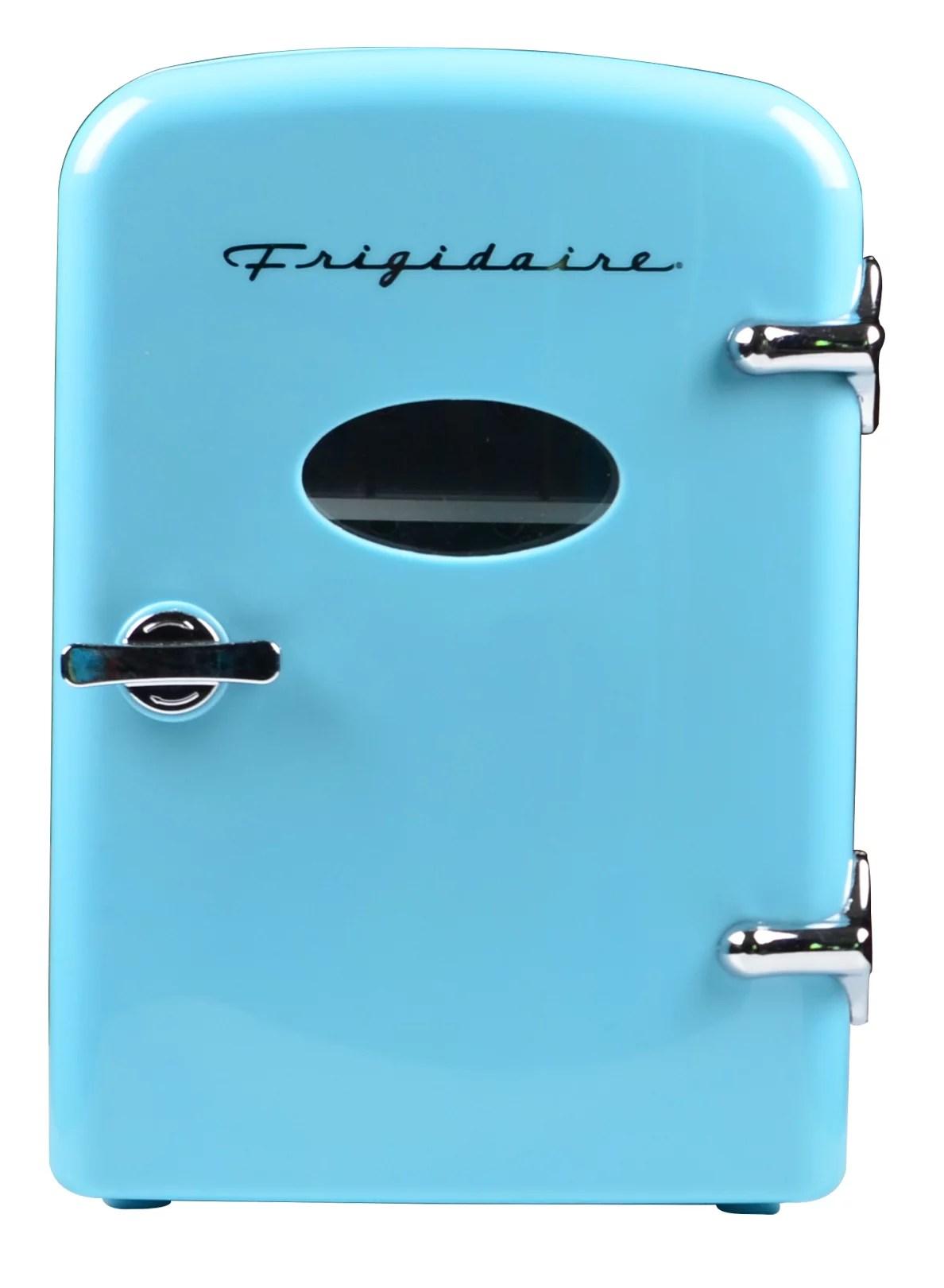 frigidaire portable retro 6 can mini fridge efmis129 blue