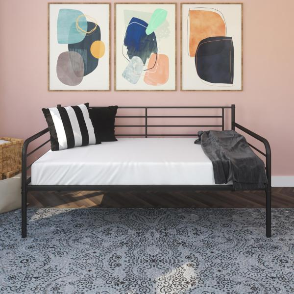 Metal Daybed With Trundle Black