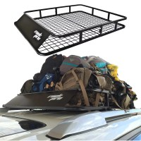 Universal Roof Rack Cargo Car Top Luggage Carrier Basket ...