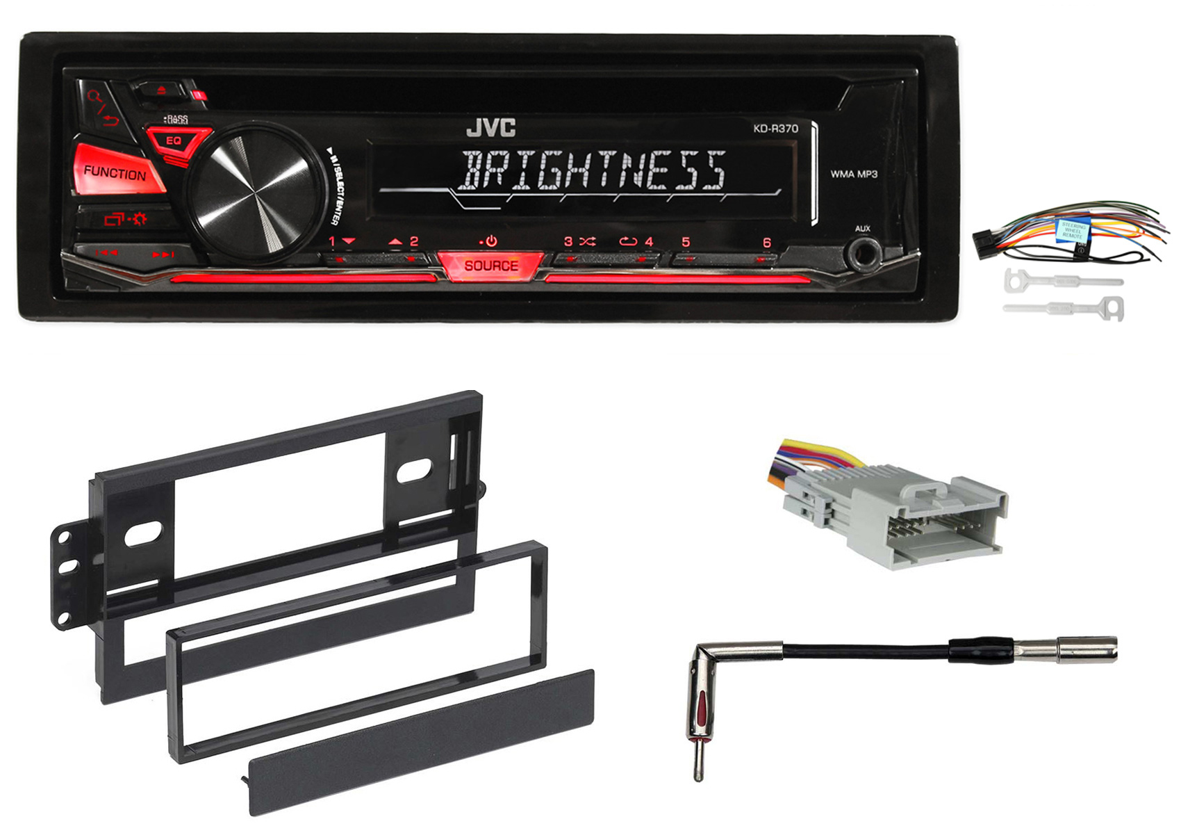 hight resolution of jvc cd player receiver stereo w mp3 wma aux for 2003 2005 chevrolet chevy blazer