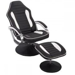 Comfortable Chair For Gaming Wooden Corner Pu Recliner Relax Racing W Footrest 81 Walmart Com