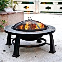 "Axxonn 32"" Alhambra Fire Pit with Cover - Walmart.com"