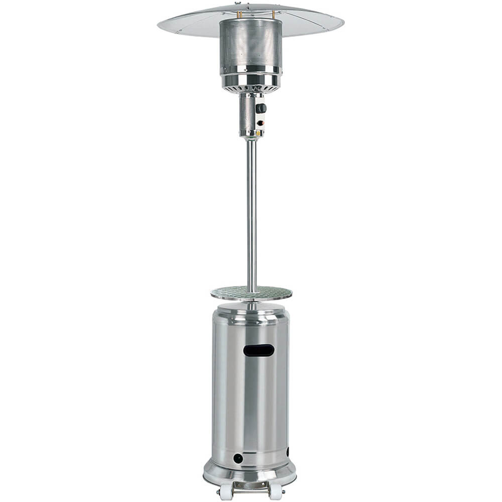 gardensun 41 000 btu outdoor propane patio heater with table stainless steel hss a dss