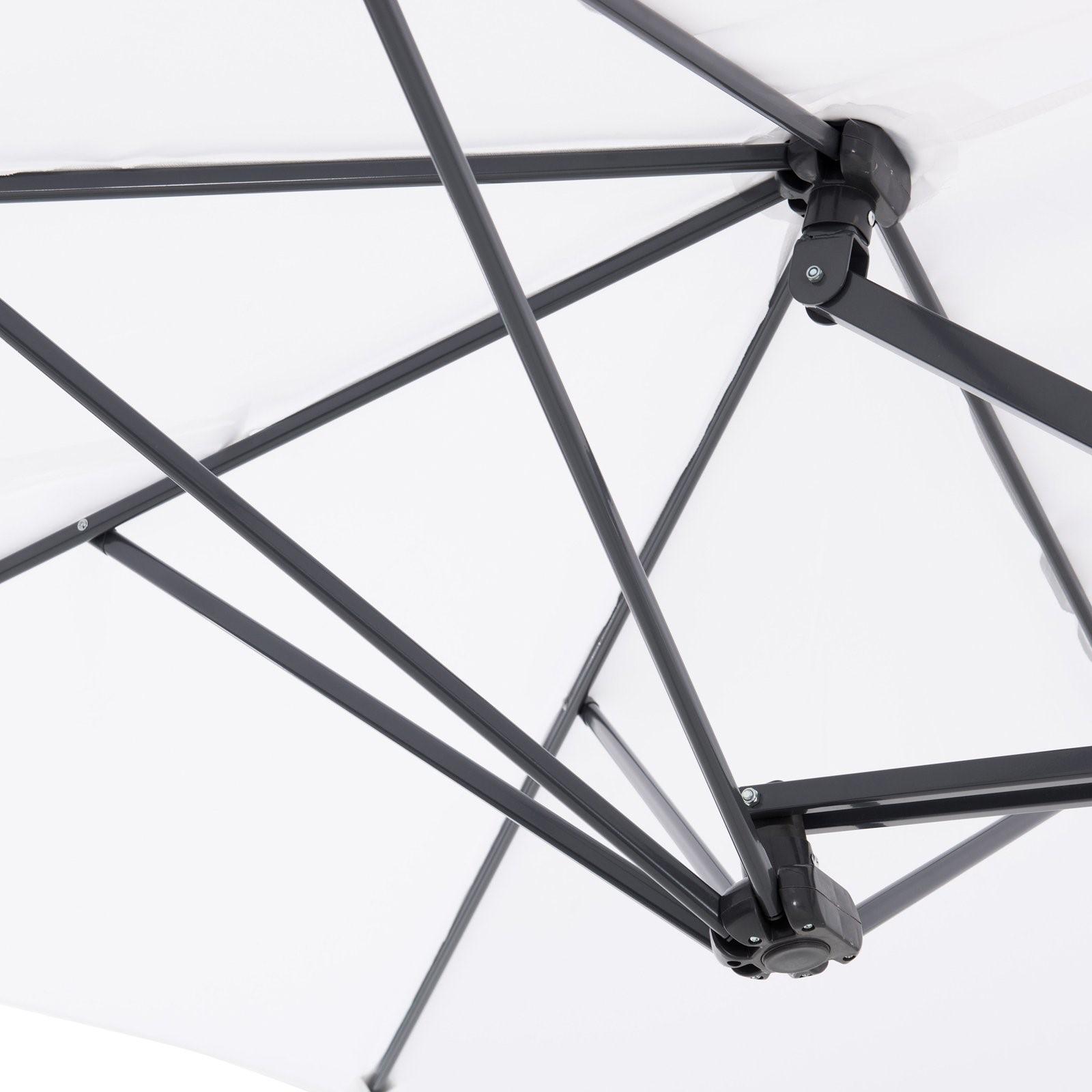 15 triple vent market umbrella with base