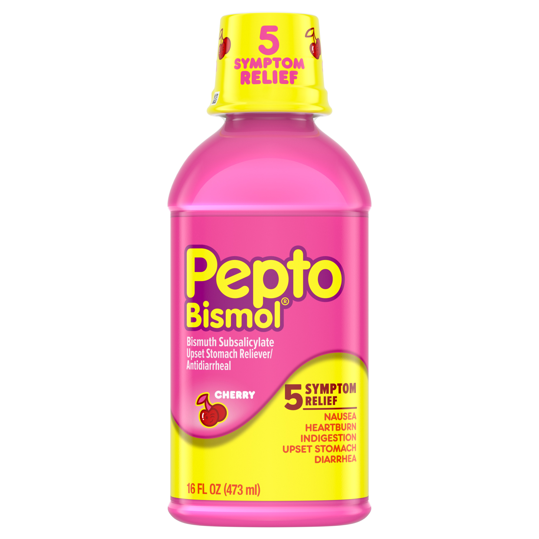 Pepto Bismol Liquid for Nausea Heartburn Indigestion ...