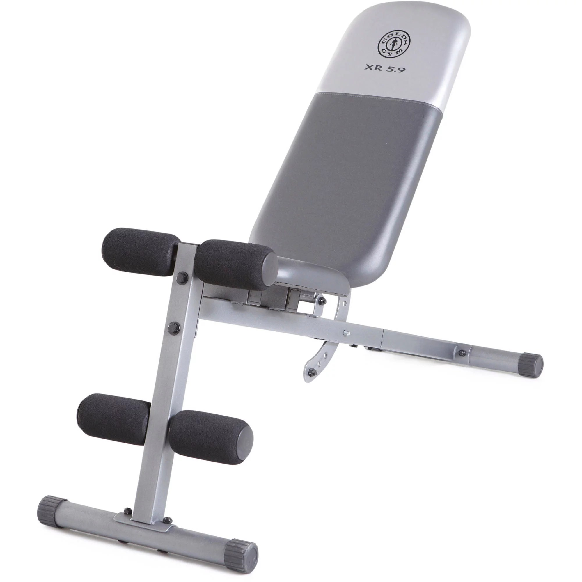 chair gym reviews twin sofa bed gold s xr 5 9 adjustable slant workout weight bench walmart com