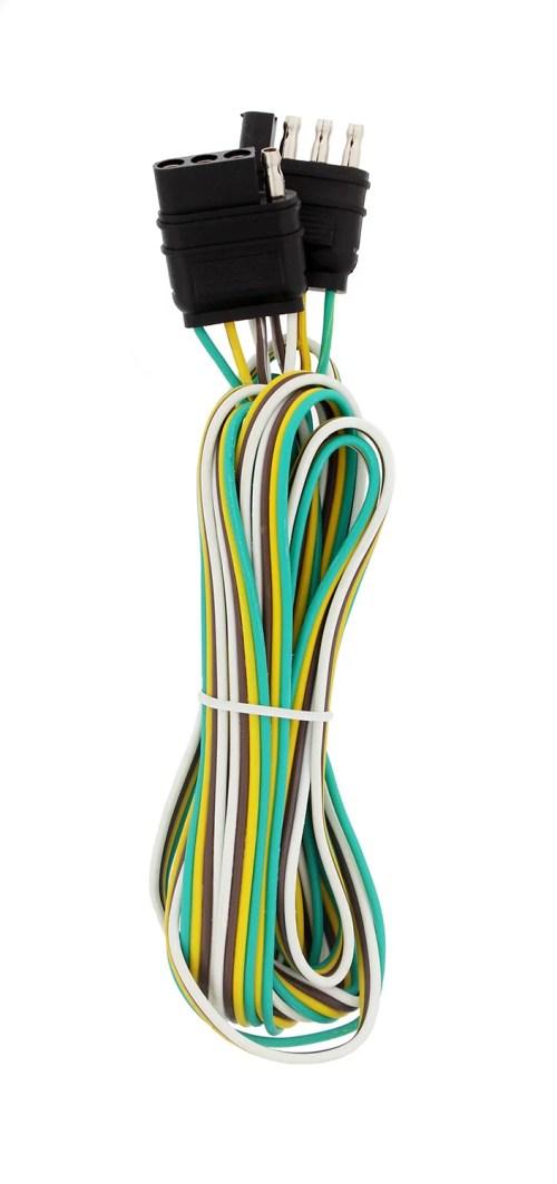 small resolution of abn 1916 4 way 4 pin plug 20 gauge trailer light wiring harness extension 10ft walmart com