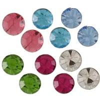City Style Silvertone Multi-colored Cubic Zirconia 6-pair ...