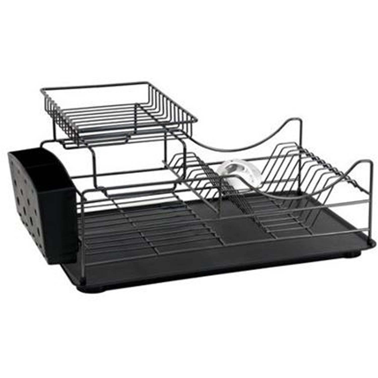 better homes and gardens black powder coated wire dish rack walmart com
