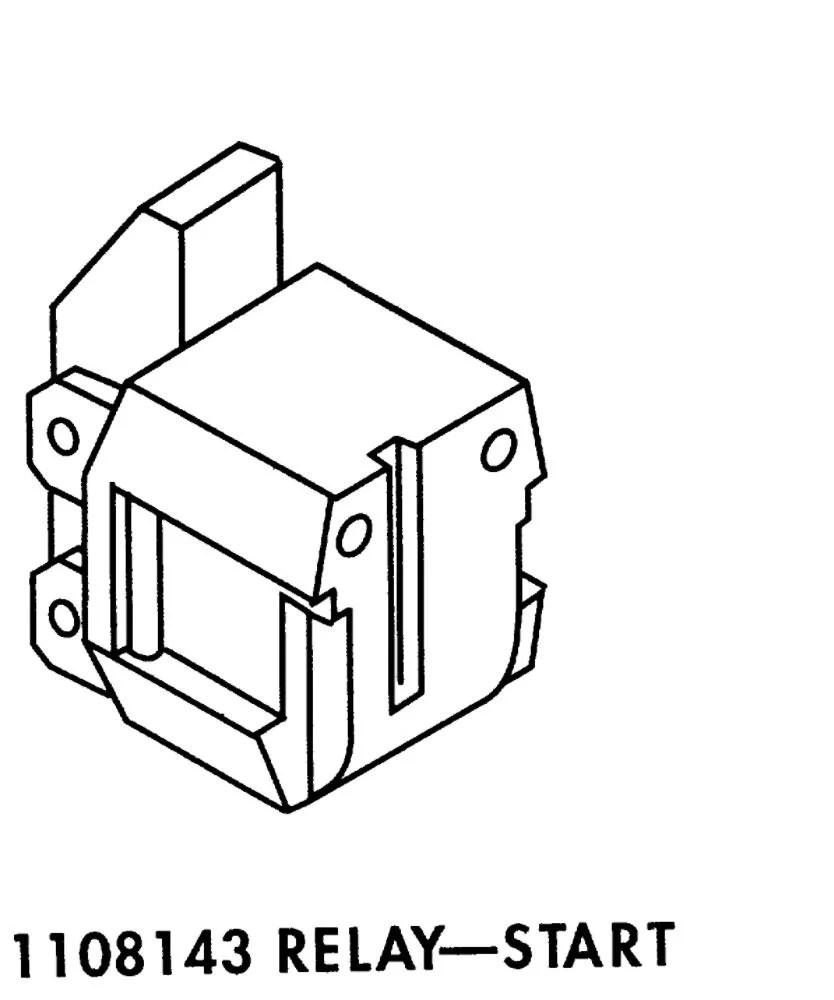 Whirlpool W2262181 Refrigerator Compressor Start Relay