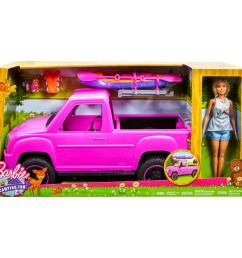 barbie camping fun doll pink truck and sea kayak adventure playset walmart com [ 2000 x 2000 Pixel ]