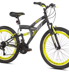 avigo 24 air flex dual suspension men s bike grey for 4 6 height sizes and up walmart com [ 3740 x 2993 Pixel ]