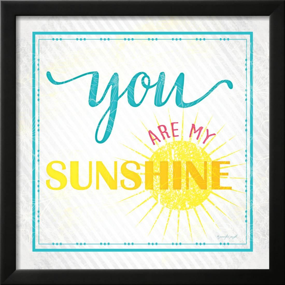 You Are My Sunshine Inspirational Quote Vector Lettering For ...
