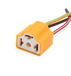 5 pcs orange h4 lamp wiring socket headlight harness connector for car [ 1100 x 1100 Pixel ]