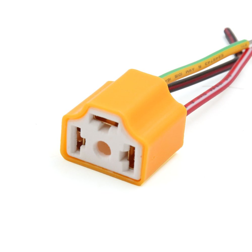medium resolution of 5 pcs orange h4 lamp wiring socket headlight harness connector for car