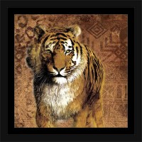 Safari Traditional Tiger Tribal Pattern Texture Painting ...